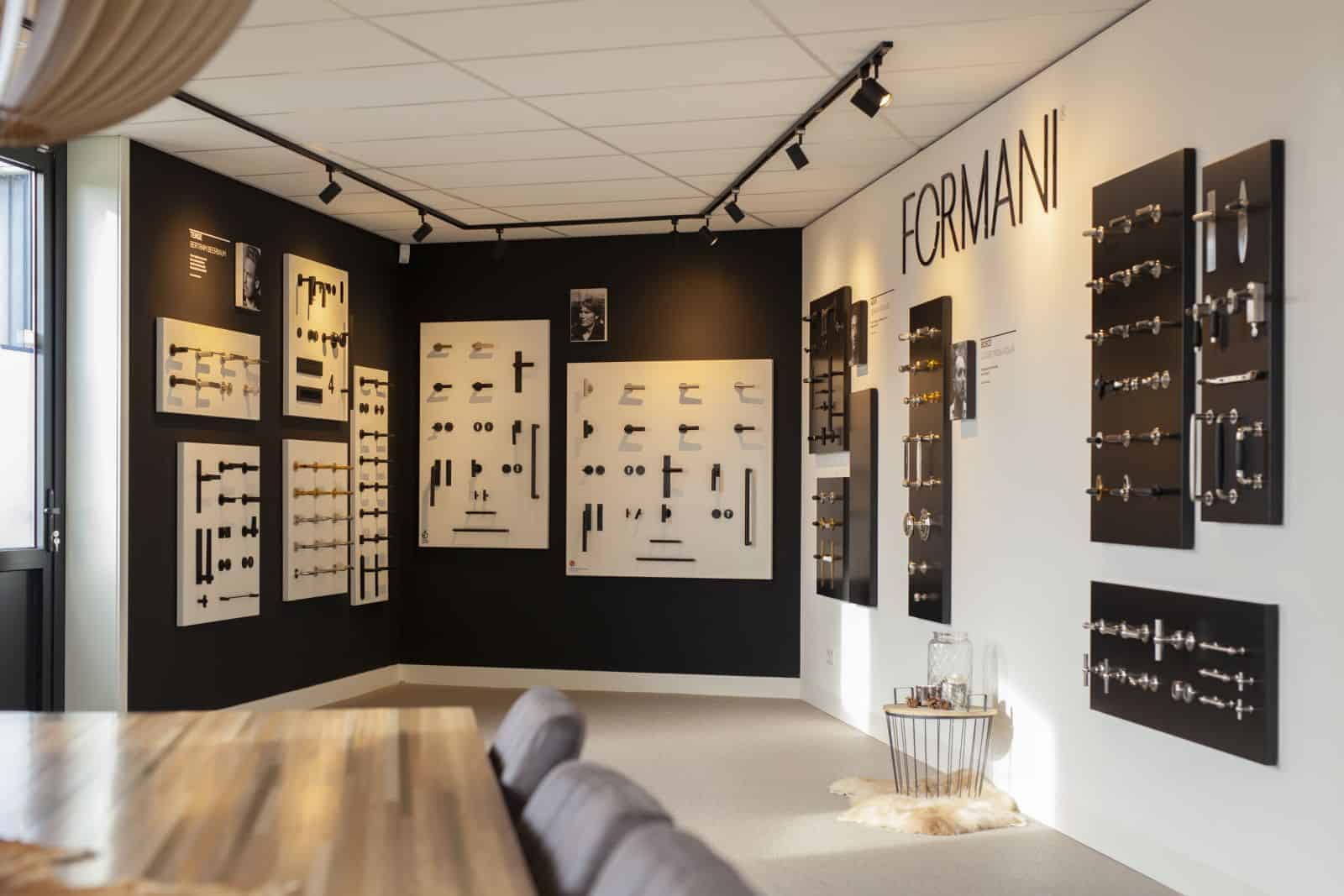 Formani shop in de Findoor showroom
