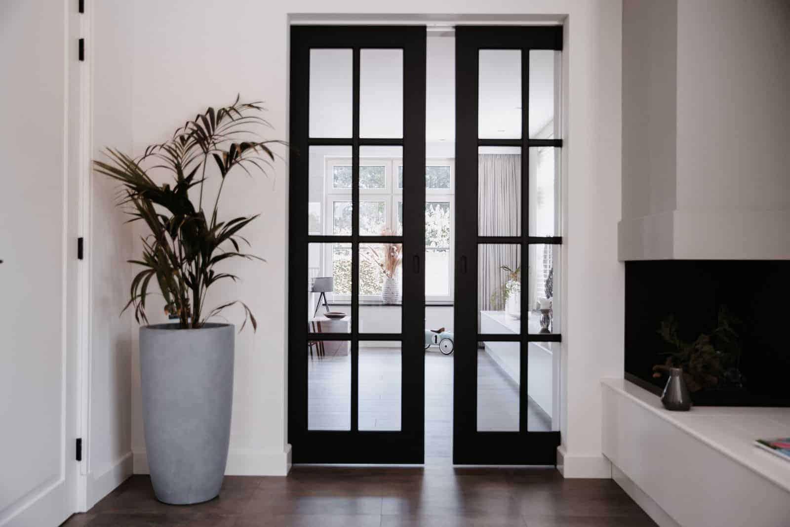 Houten deur met glas op maat